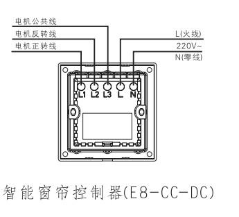 智能窗帘控制器(直流电机)-e度空间系列